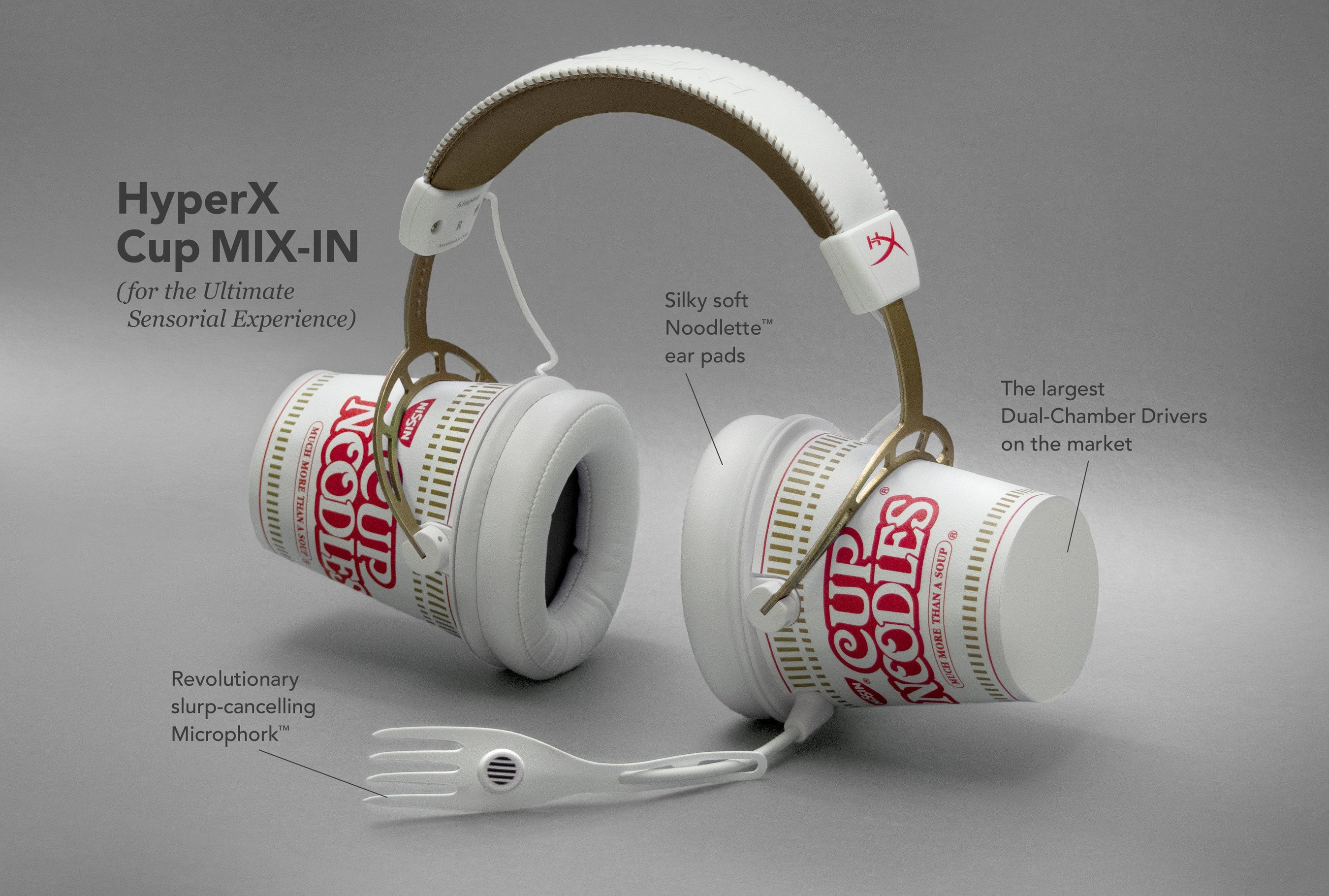 The Nissin Cup Noodles Is A Premium Headphone And It's Collectible – It's Been Released On April Fools' Day