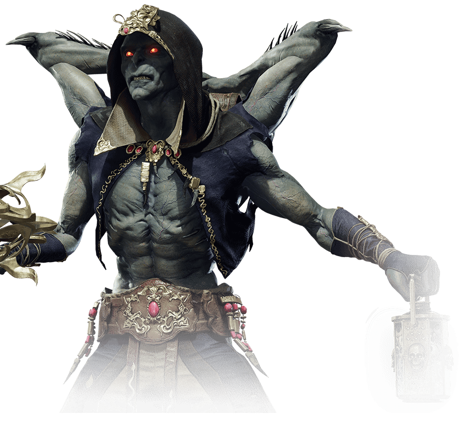 Mortal Kombat 11 New Character The Kollektor Dips Into His Bag of Tricks