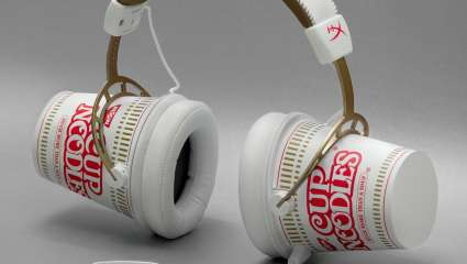The Nissin Cup Noodles Is A Premium Headphone And It's Collectible - It's Been Released On April Fools' Day