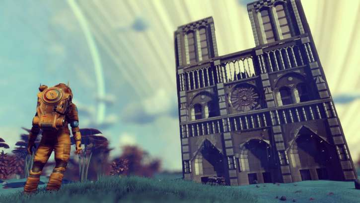 No Man's Sky Player Pays Tribute To Notre Dame Cathedral And Recreates The Structure Inside The Game