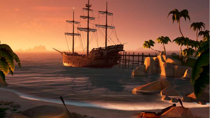 Playtesters For Sea Of Thieves Made Use Of Harpoons In Pulling Ships Up To The Mountainsides