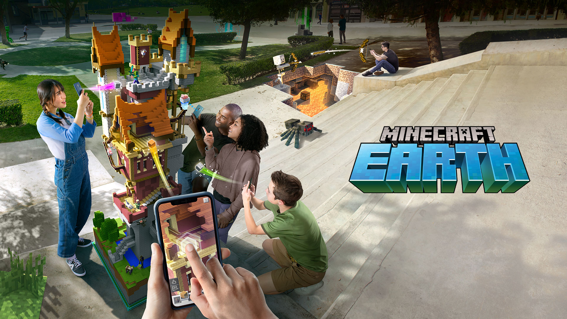 """Minecraft Earth Is Hosting A """"Mobs At The Park"""" Event In New York, London, And Sydney"""