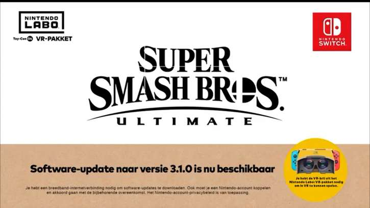 A VR Mode Will Be Included In Super Smash Bros. Ultimate; Will Be Compatible With Labo VR Kits