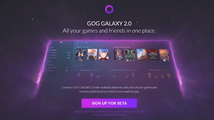Closed Beta For GOG Galaxy 2 Game Launcher Is Now Open