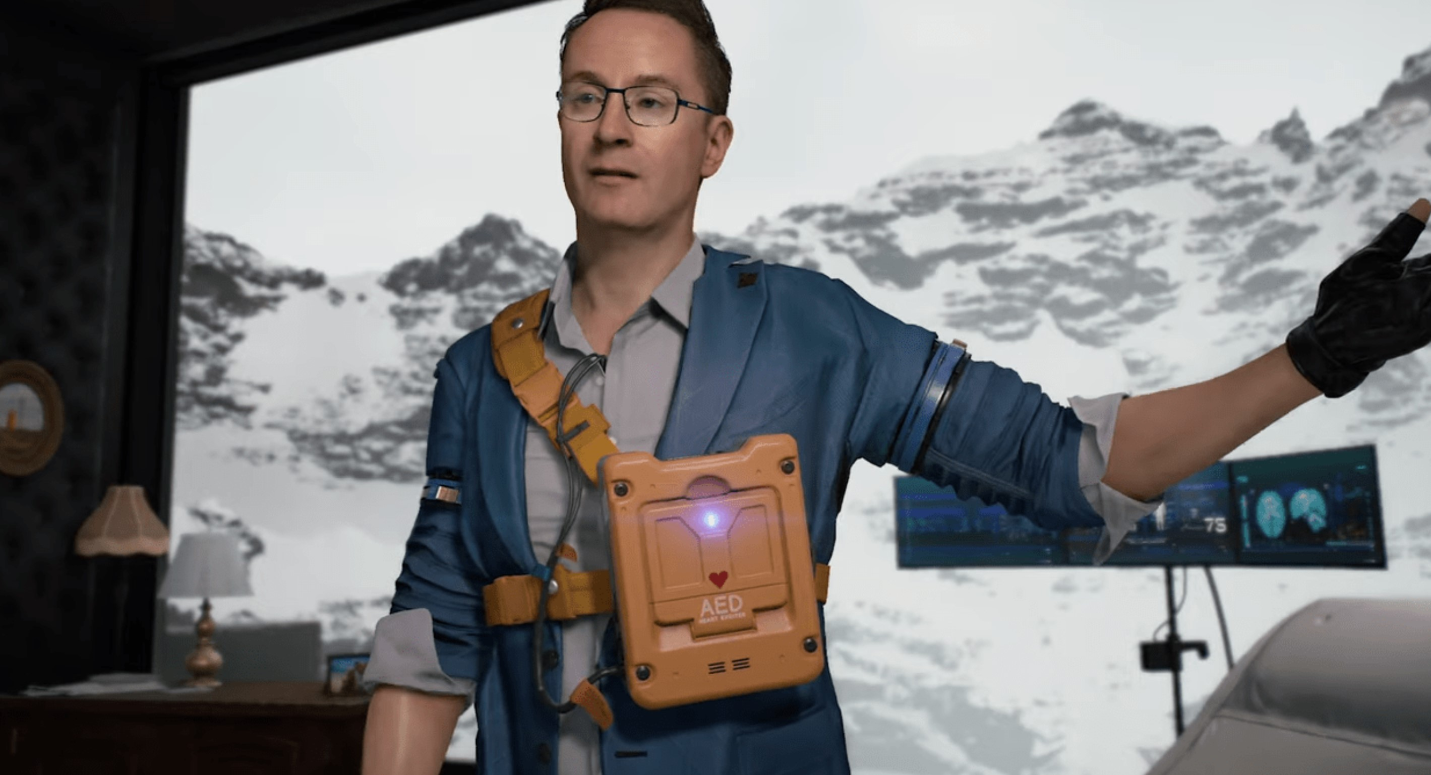 A New Death Stranding Trailer – A Closer Look At Heartman, A Researcher Who Travels In And Out Of Death