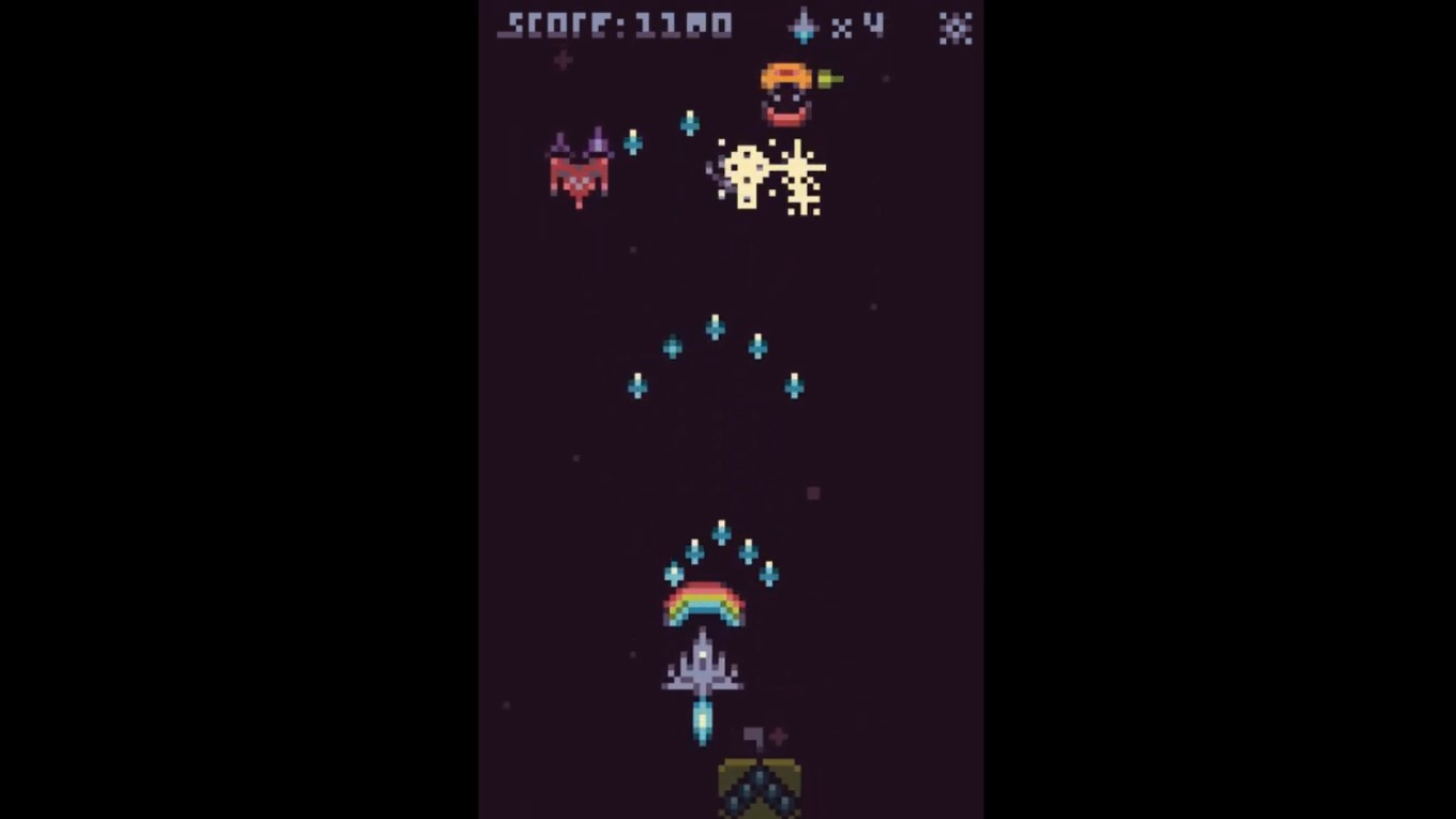 New Shoot em' Up Game From Pixel Studios Channel Classic Retro Pixel Art Game, Galaga