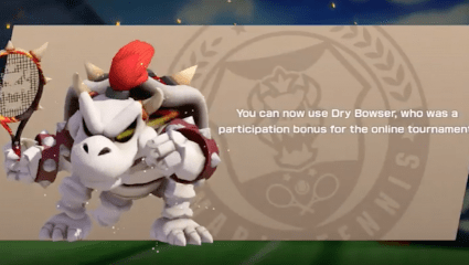 It's A Service Ace! Dry Bowser Comes to Mario Tennis Aces in July This Year