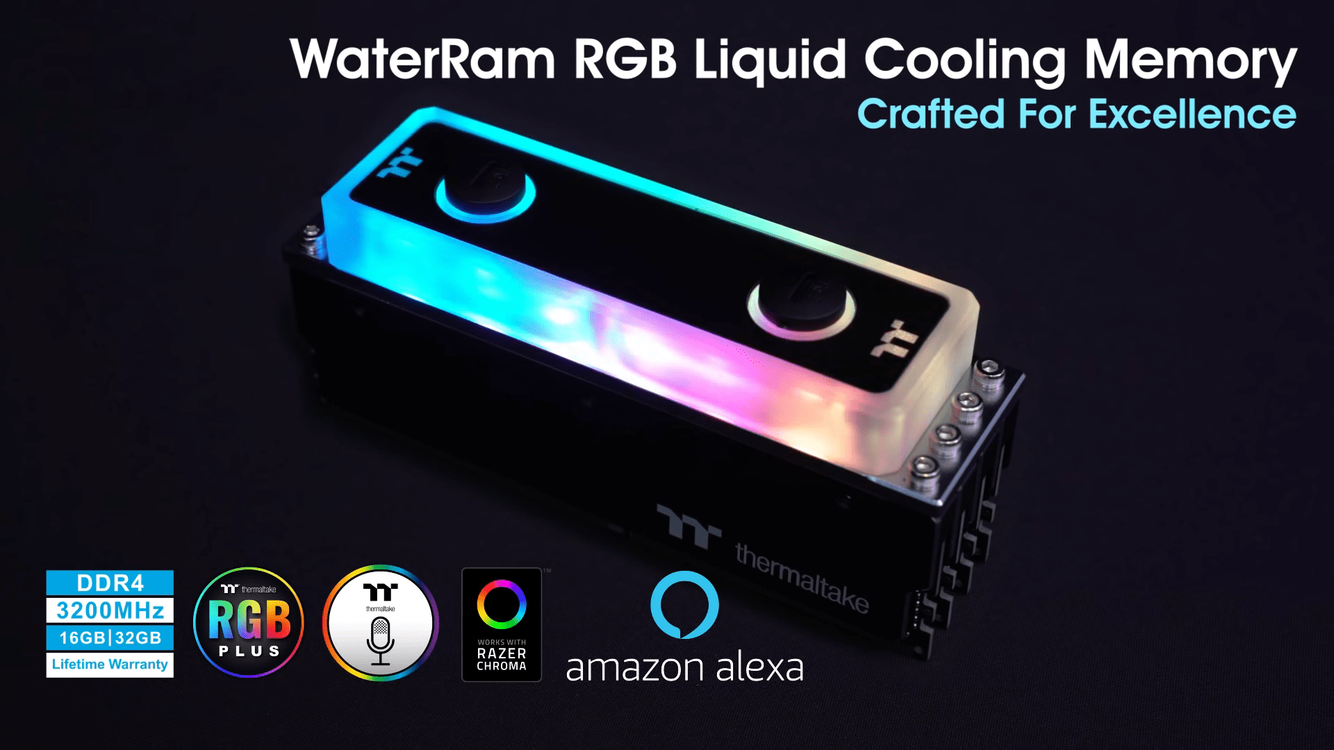 Thermaltake WaterRam RGB Liquid Cooling DDR4 Memory: The World's First Two-Way Cooling DDR4 Memory Is Here