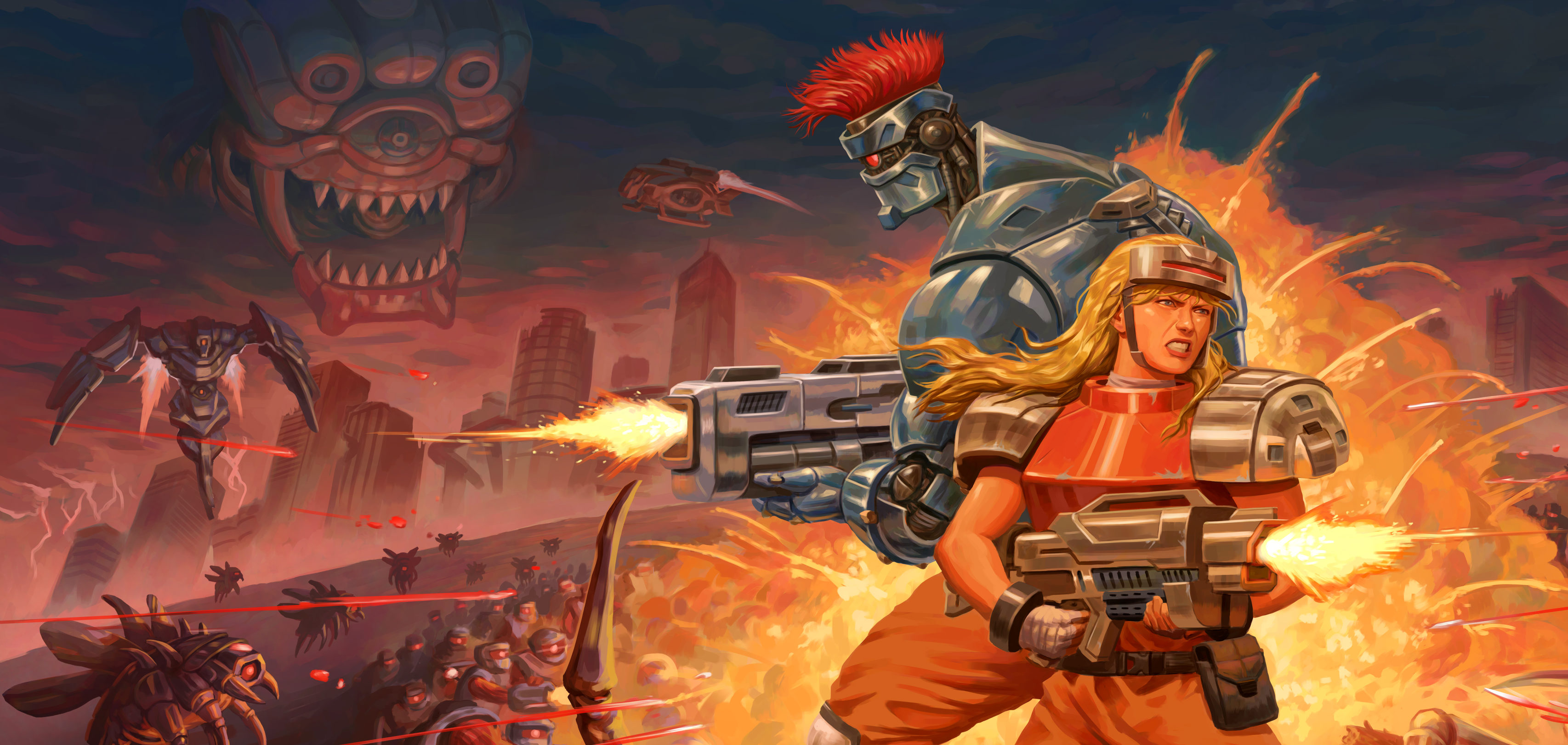 Blazing Chrome Brings A New Pixel Run 'n Gun Shooter To Consoles In An Epic Battle For The Future