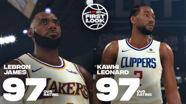 2K Sports Reveal NBA 2K20 Player Ratings Via An Interactive Live Broadcast And Lebron James Is Still King
