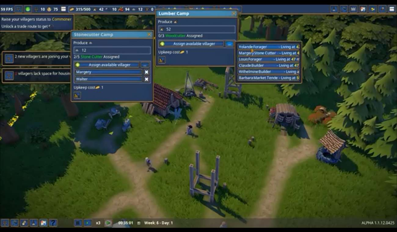 Foundation Polymorph Games the city-builder foundation is currently in steam's early