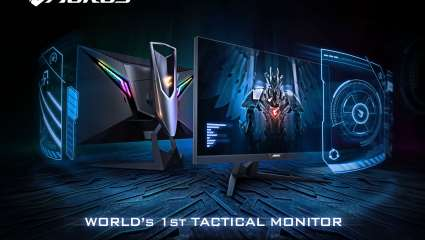The Gigabyte Aorus CV27F Is The 'World's First Tactical Gaming Monitor'