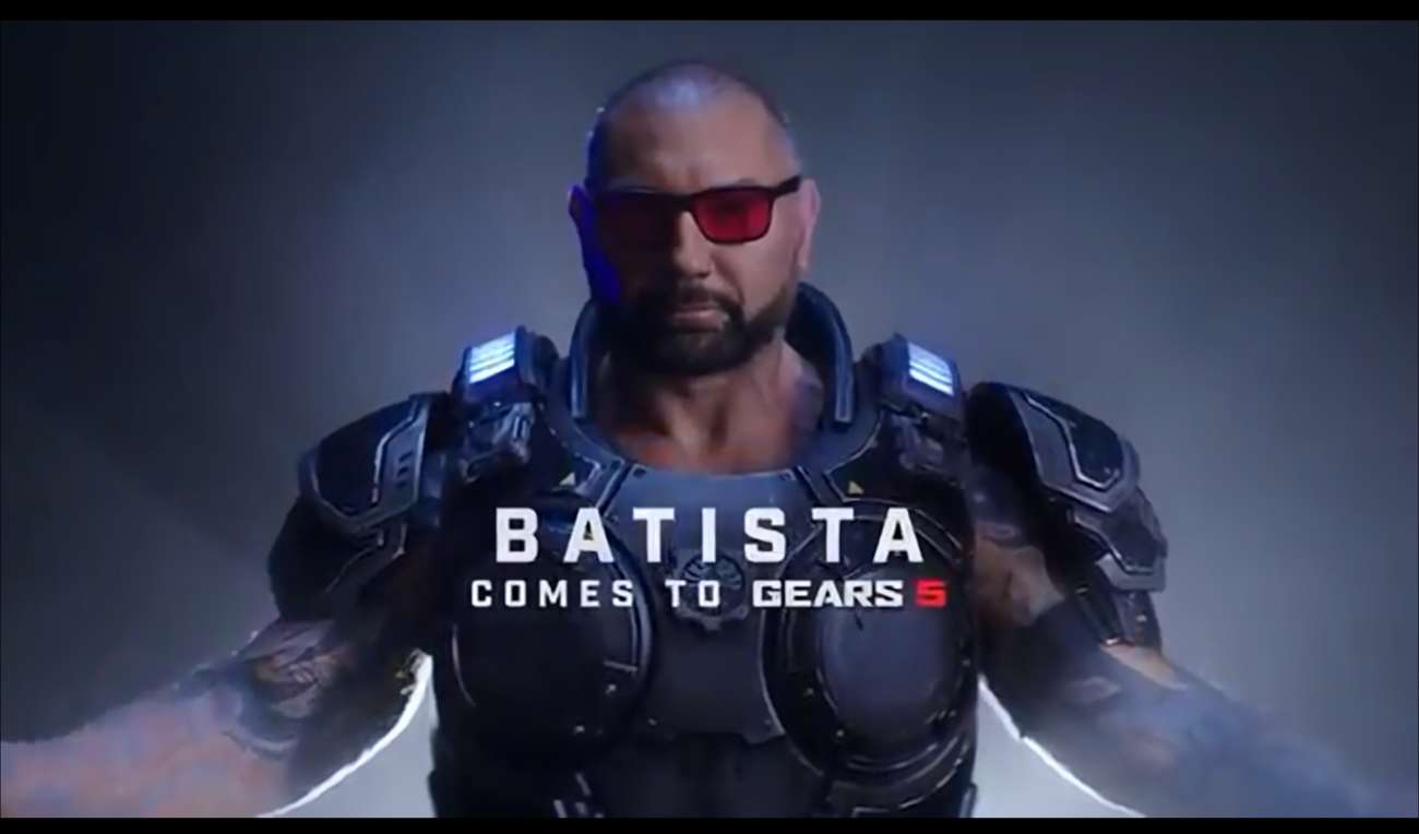 Guardians Of The Galaxy Star Dave Bautista Will Be A Playable Character In The Coalition's Gears Of War 5