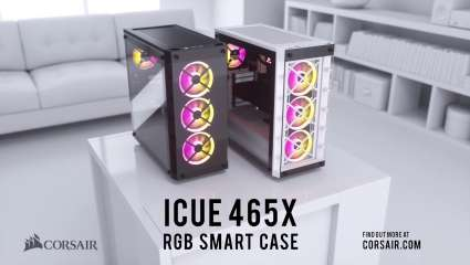 CORSAIR Launches The iCUE 465X RGB Mid-Tower ATX Smart Case, Complete With Smart RGB Lighting And Versatile Cooling Options