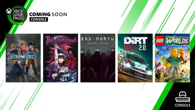 Microsoft Announces The Next Five Titles Coming To Xbox Game Pass For Console Library, Dirt Rally 2.0, LEGO Worlds