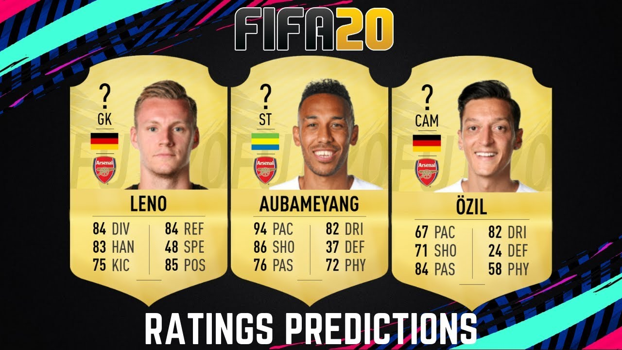 FIFA 20: Arsenal Player Ratings, Aubameyang And Lacazette In Top 100, Ozil Takes A Hit