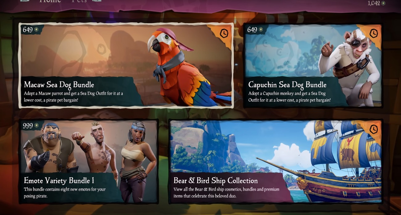 A New Update Is Available For Sea Of Thieves Called Smuggler's Fortune; Finally Introduces Pets