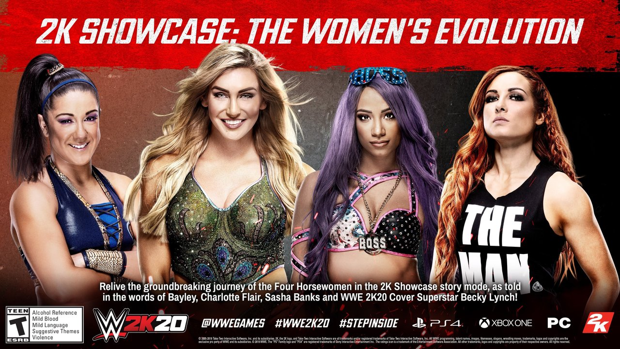 2K Releases New Trailer For WWE 2K20 Women's Evolution Showcase Mode, No New Gameplay Featured