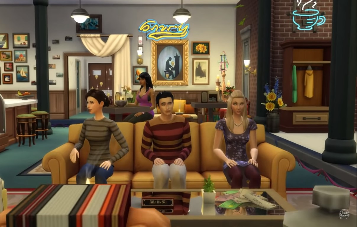 Sims 4 Build Allows You To Live In F.R.I.E.N.D.S Apartments And Iconic Central Perk Coffee Shop