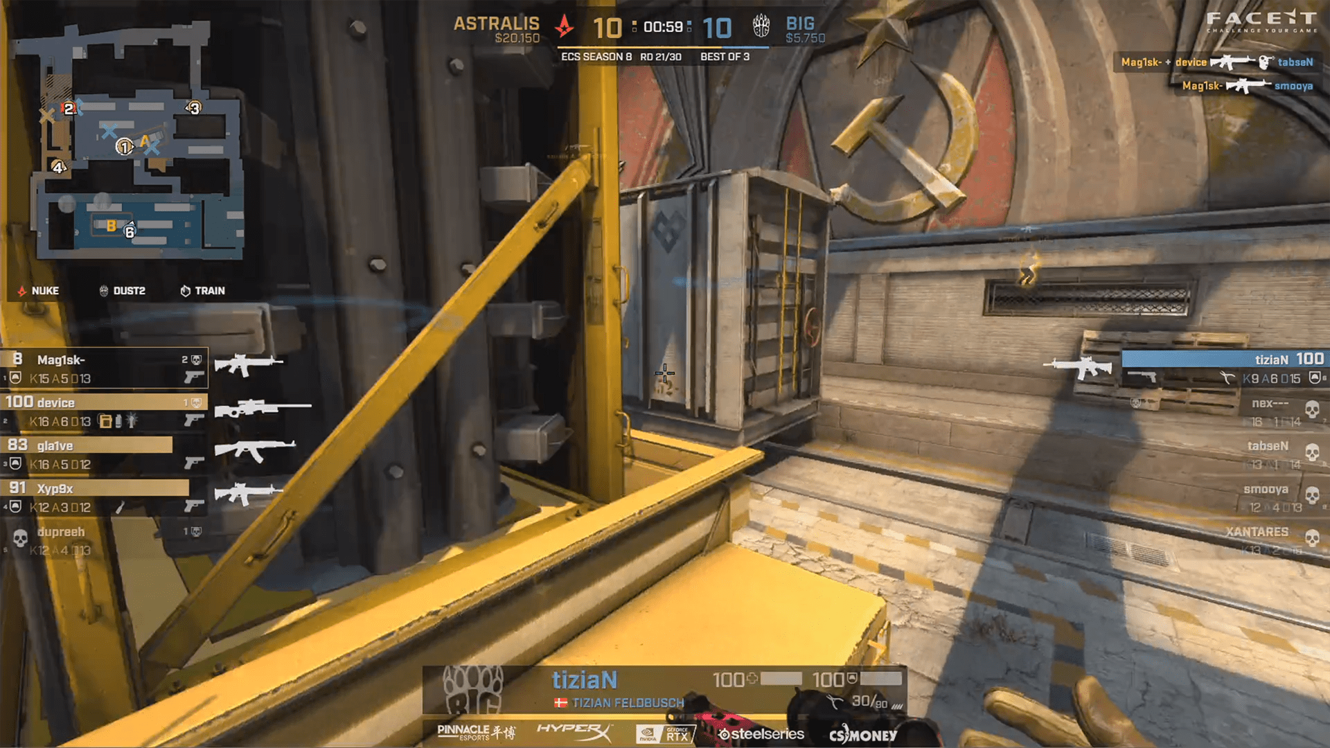 Counter-Strike: Global Offensive – ECS Season 8 – Astralis Versus BIG Ends With A Bullet Away From A World Record Victory