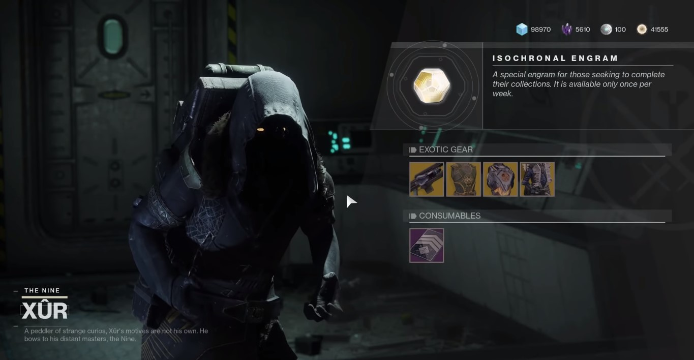 Discover Xur's Frequent Location In Destiny 2 And What Exotic Items You Should Purchase