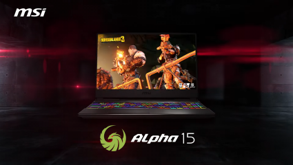The MSI Alpha 15 Is The World's First Gaming Laptop To Feature 7nm Technology