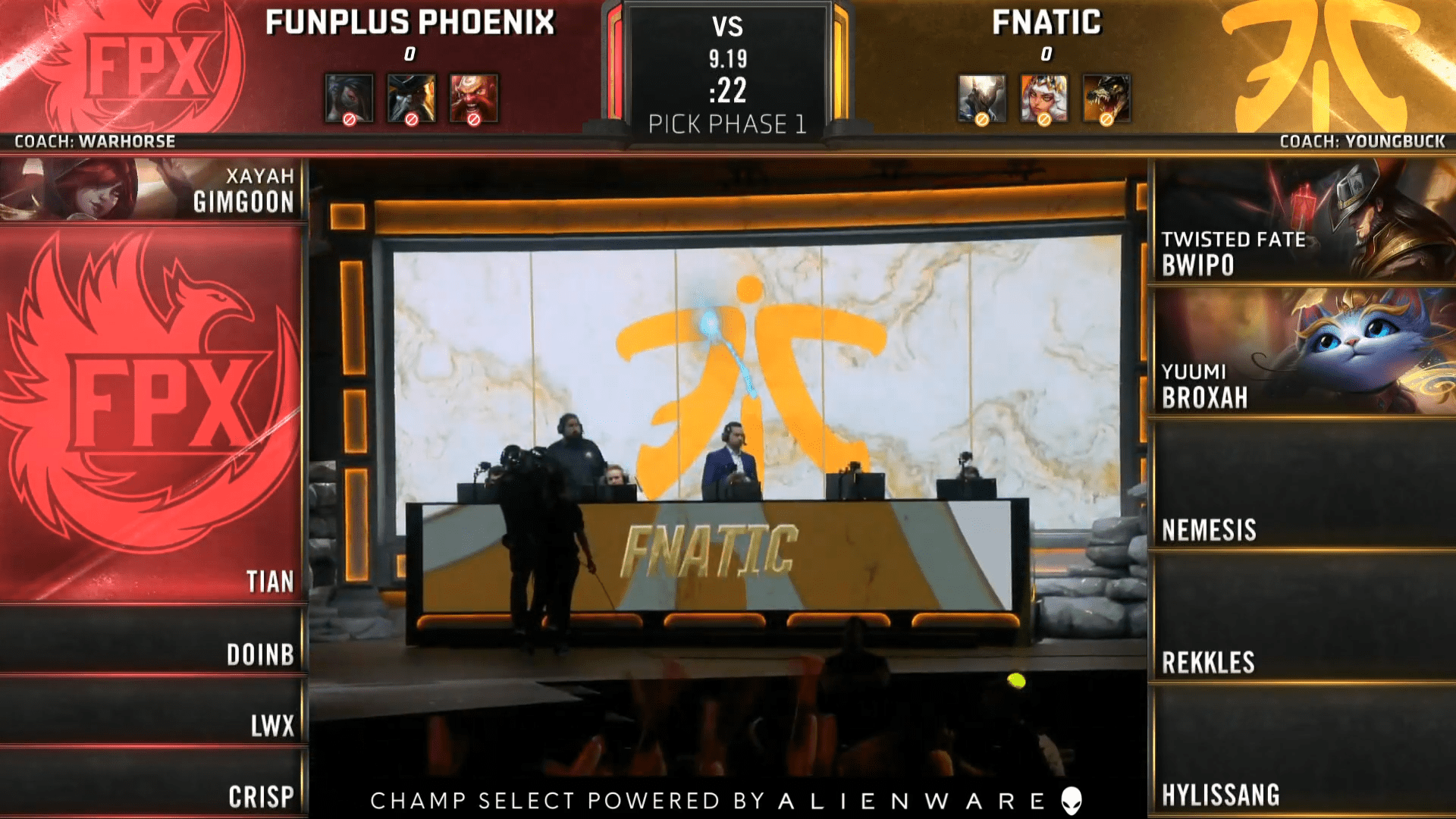 League Of Legends World Championship 2019, Quarterfinal Day 1, Match 2, FNC vs FPX