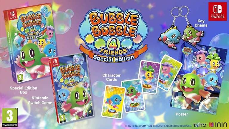 Bubble Bobble 4 Is Getting A Standard And Collector's Edition Physical Release On The Nintendo Switch, Exclusive Content Within The Box