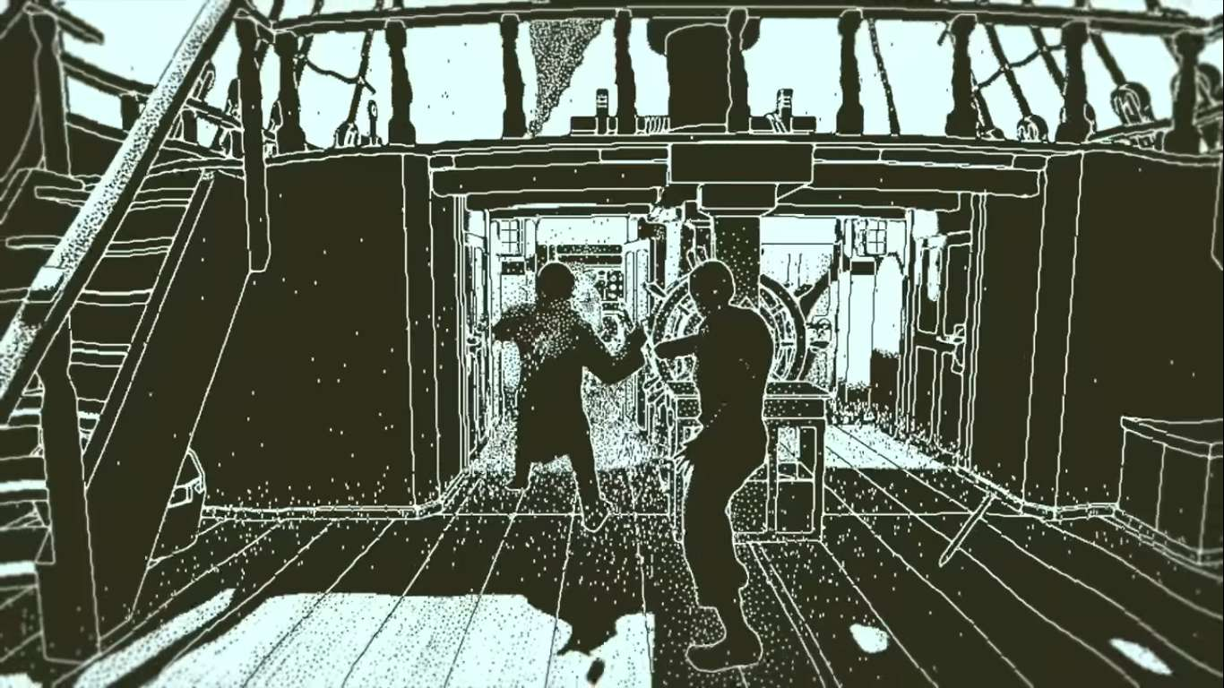 Return Of The Obra Dinn Is A New Puzzle Game That Looks Like It Was Made In 1980, A Return To One Bit Pixel Games