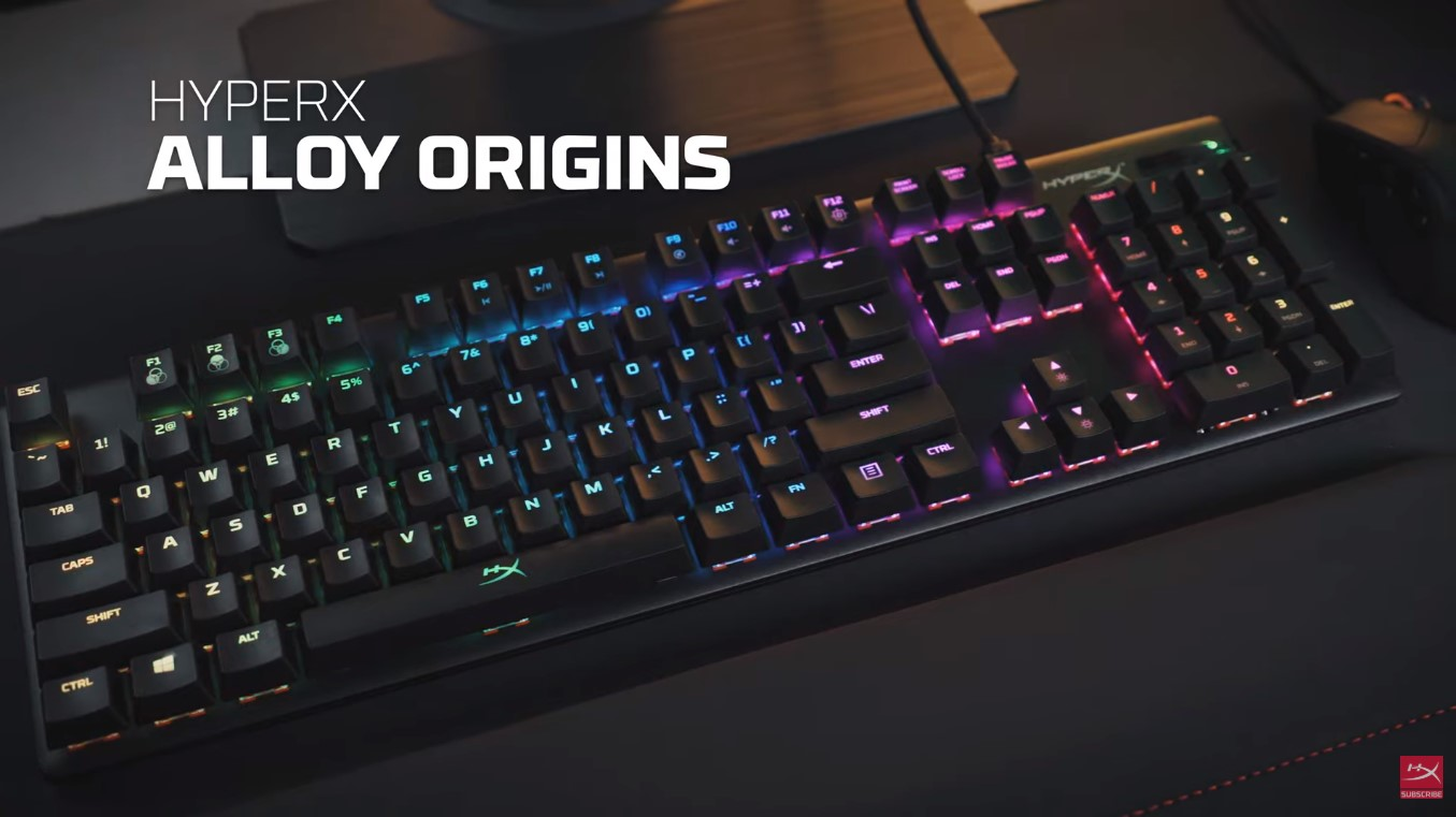 HyperX New RGB Mechanical Gaming Keyboards Alloy Origins Core Is Now Available