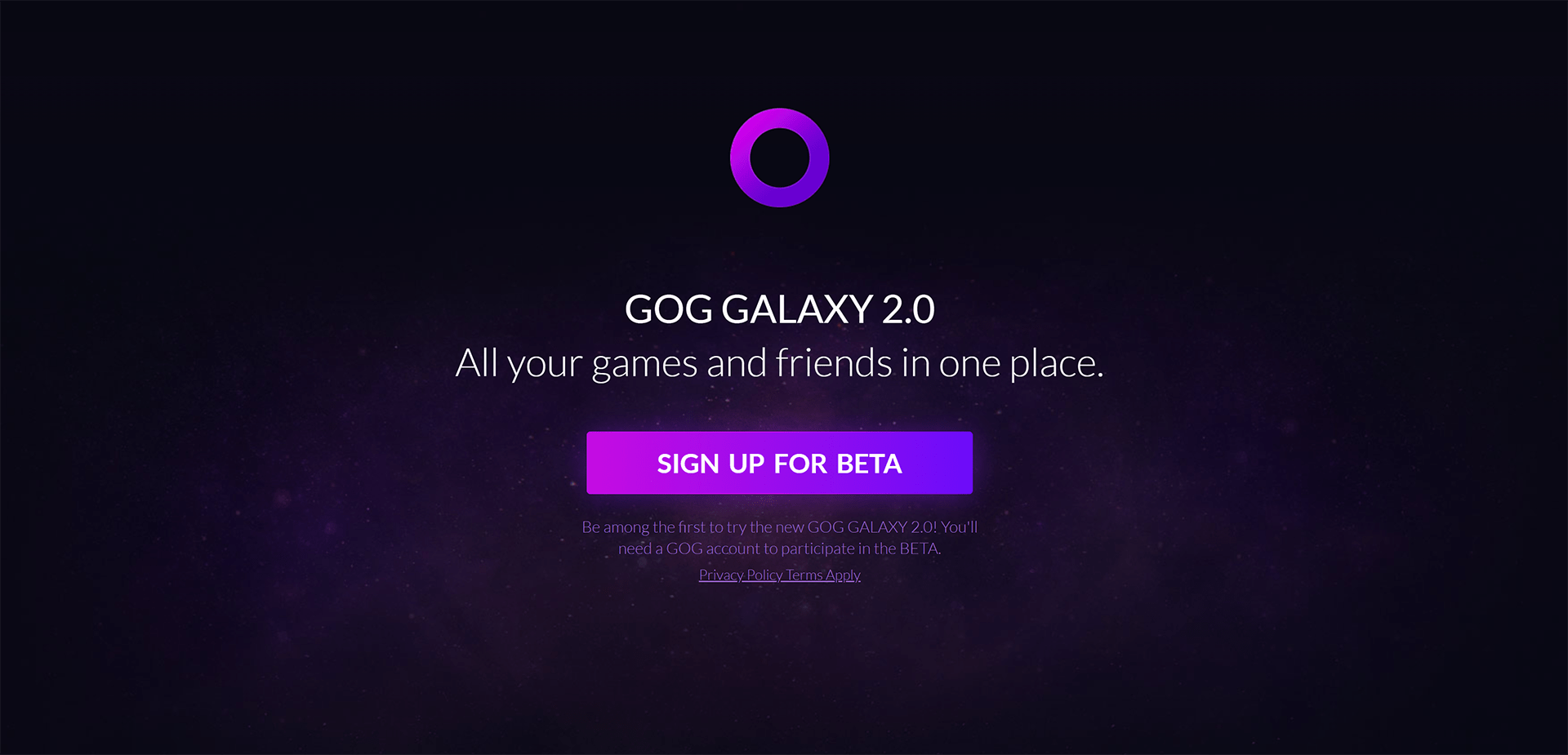 Newest Wave Of Beta Invites Out From GOG For GOG Galaxy 2.0 Launcher From CD Projekt