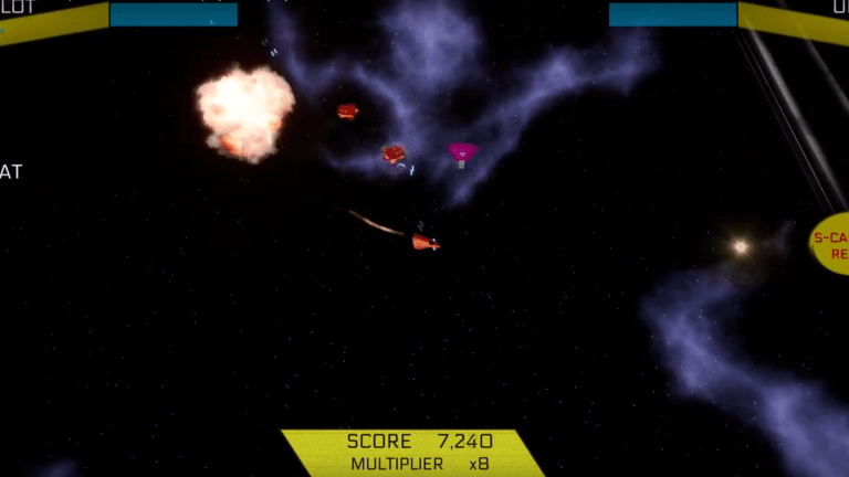 Protect A Spaceship From An Endless Wave Of Space Pirates In Galactic Defence Squadron