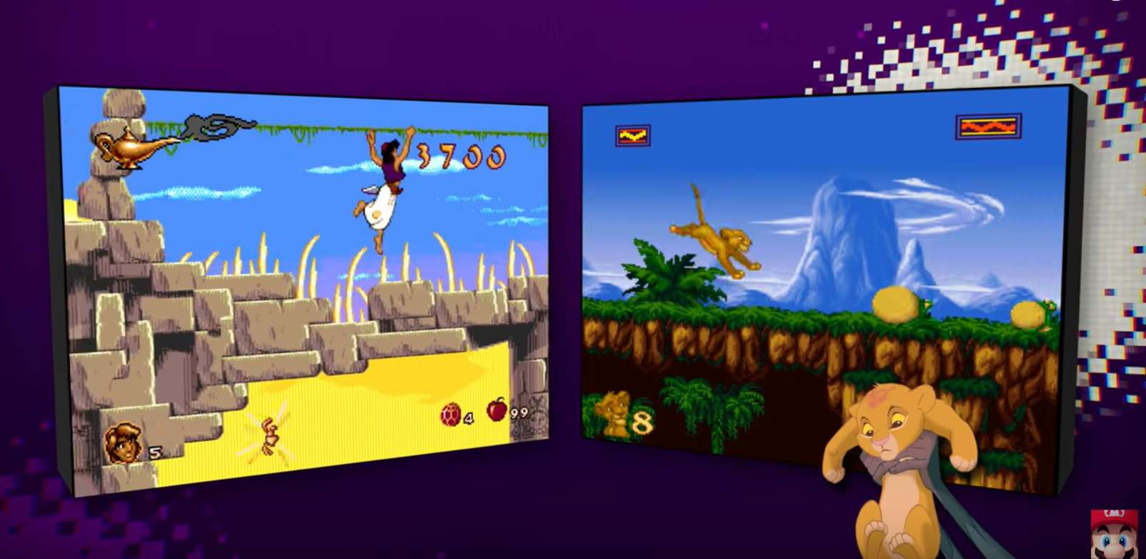 Official Nintendo Switch Launch Trailer Released For Disney's Classic Aladdin And Lion King Games