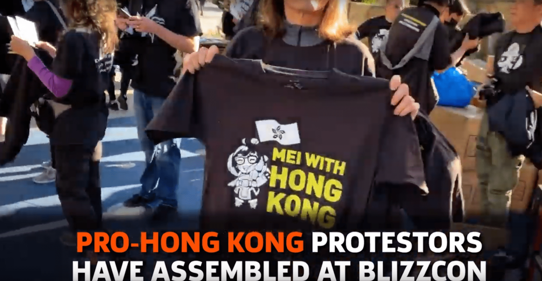 Protests Have Been Going On All Day Outside Of Blizzcon, Rallying Against Hong Kong Controversy