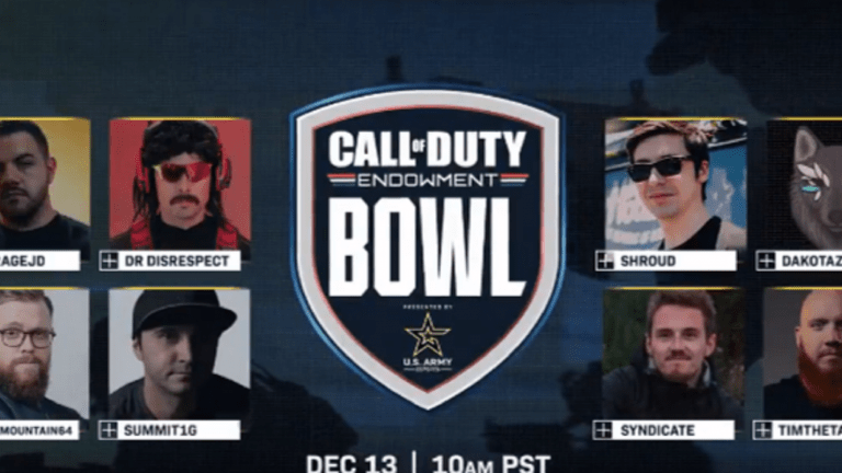 Eight Popular Streams Will Team Up With Veterans In The First Ever Call Of Duty Endowment Bowl