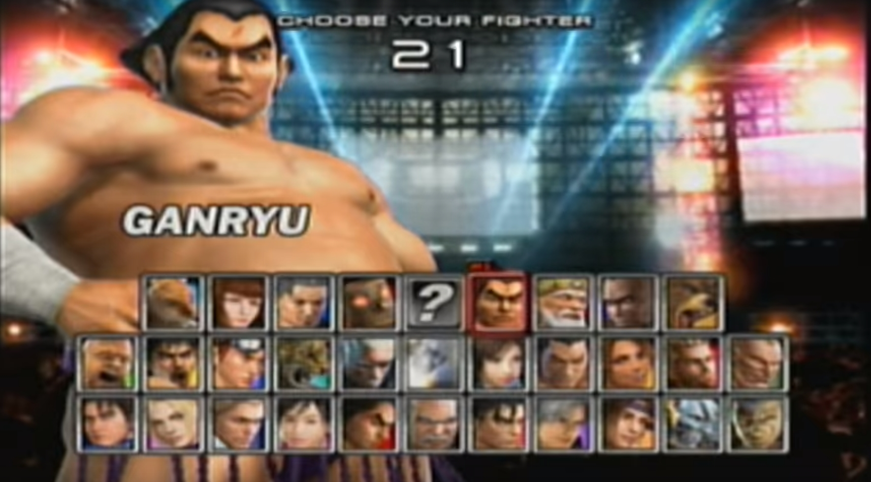 tekken 5 all characters name