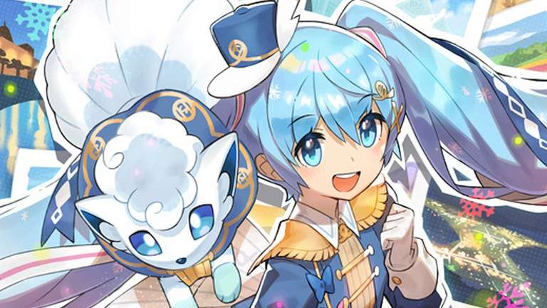 Vocaloid Miku Hatsune And Pokémon's Alolan Vulpix Team Up For Japan Snow Festival
