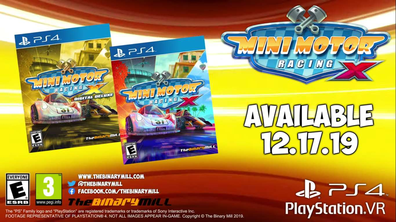 Mini Motor Racing X Is Headed For PlayStation 4 And PlayStation VR Next Week With Some Mini Racing Mayhem For The Aspiring RC Racer