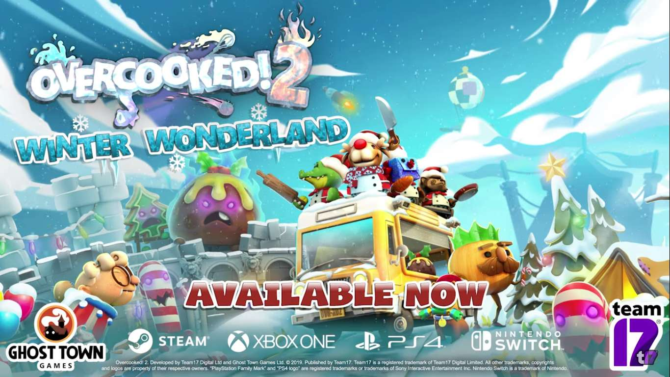 Overcooked! 2 Winter Wonderland Has Been Released On All Platforms, Time For Some Co-op Cooking Madness In A Land Full Of Snow