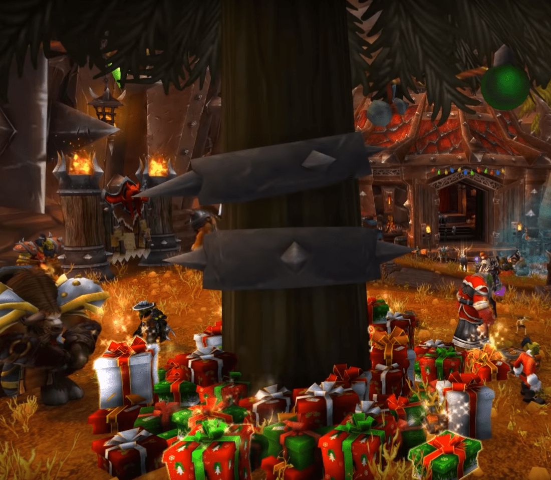 World Of Warcraft's Greatfather Winter Has Left Presents Under The Winter Veil Tree In Orgrimmar And Ironforge!
