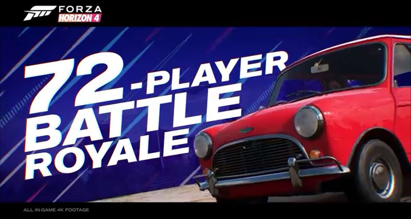 Forza Horizon 4 gets a 72-player Battle Royale mode