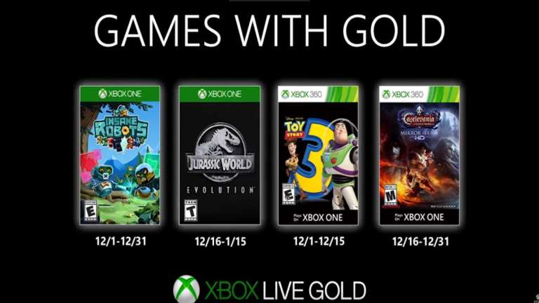 The December Free Games List Was Just Released For Xbox Live Gold Members; Includes Toy Story 3 And Jurassic World Evolution