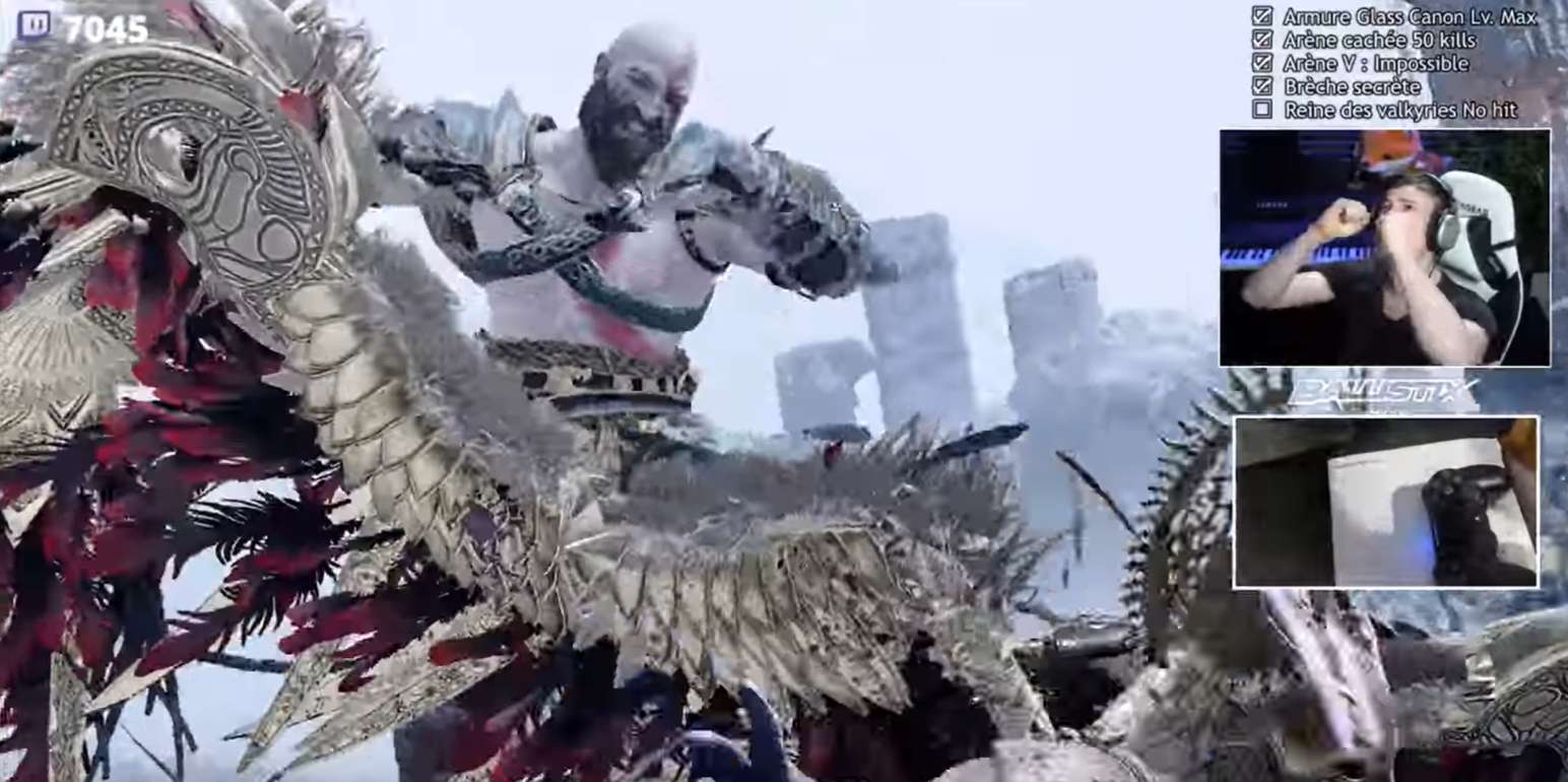 Twitch Streamer Completes The Ultimate God Of War No Hit Challenge After More Than 1,400 Attempts