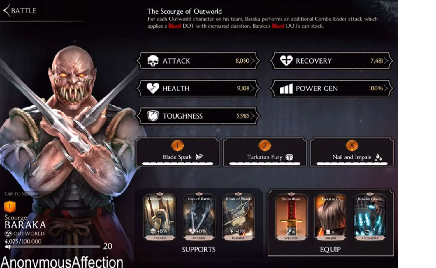 Scourge Baraka Slices Into Mortal Kombat Mobile For A Set Of Weekly Towers