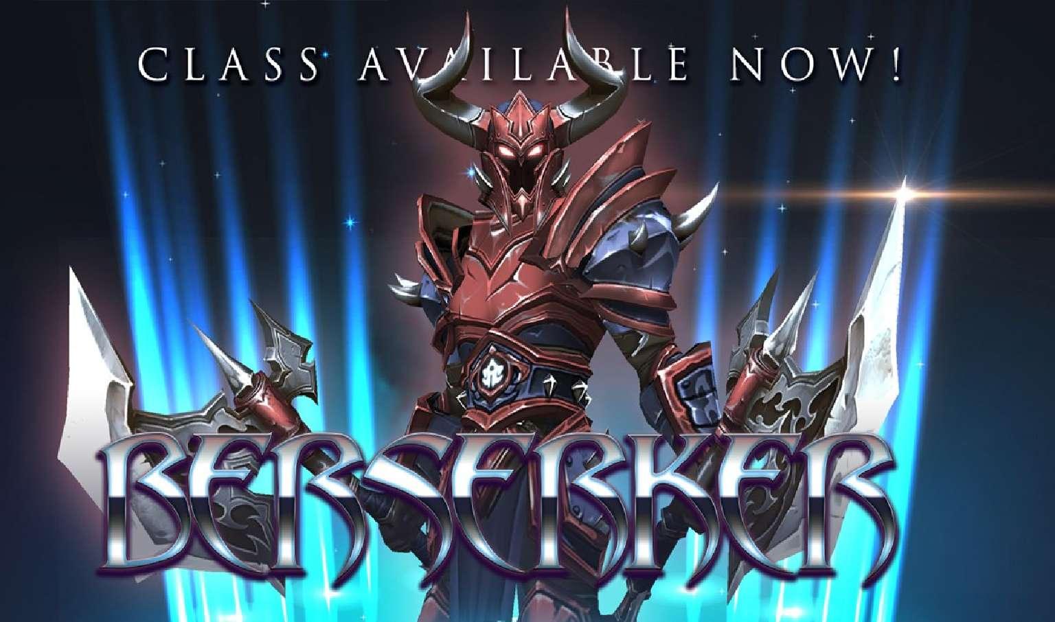 AdventureQuest 3D Released Information On The New Berserker Class Skills