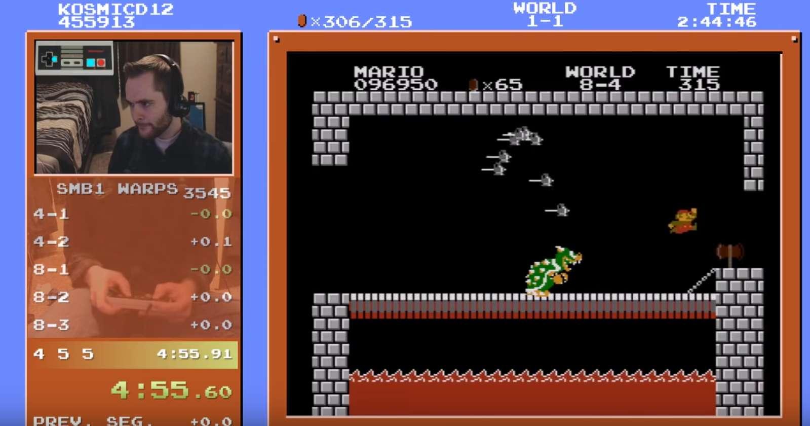 YouTube Gamer Sets An All New Super Mario Bros Speedrun World Record