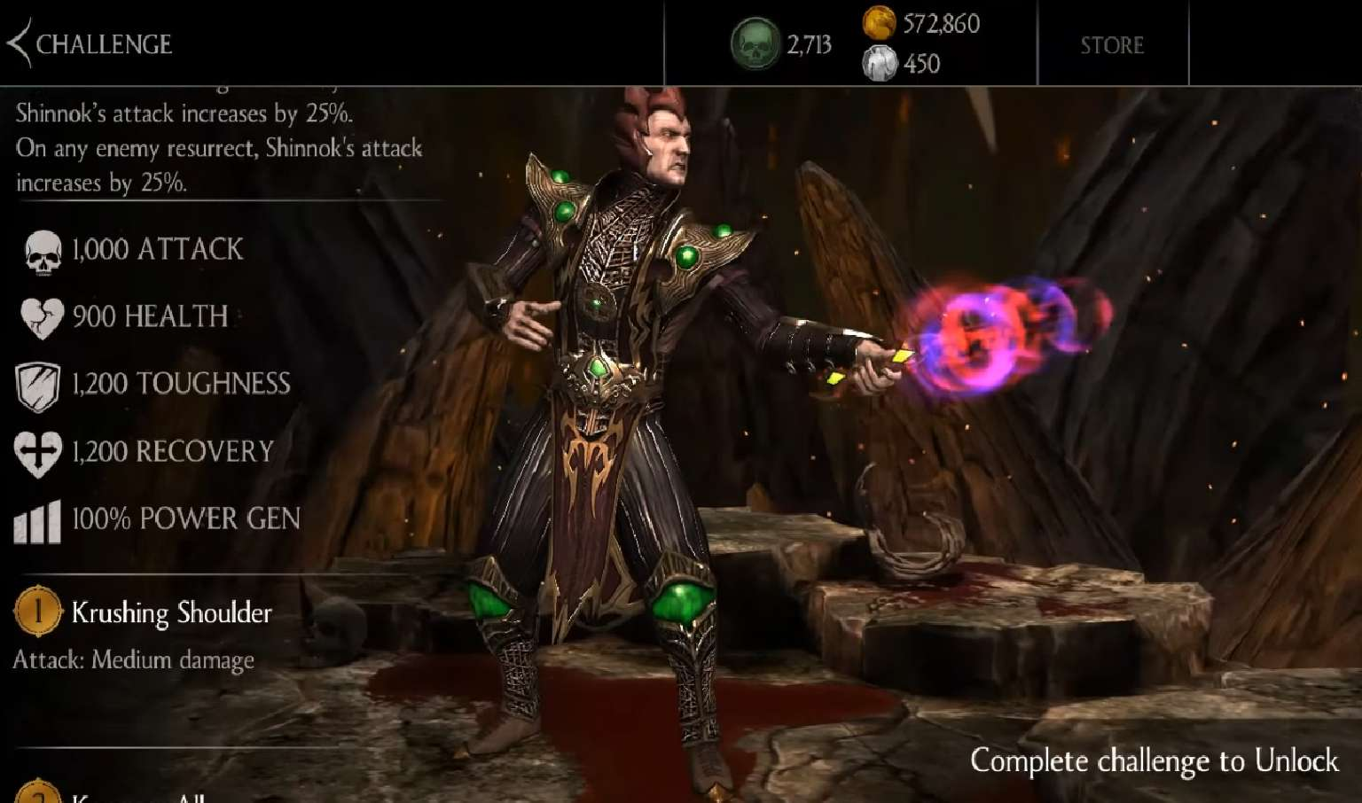 Bone Shaper Shinnok Brings Necromantic Pain In His Weekly Mortal Kombat Mobile Towers