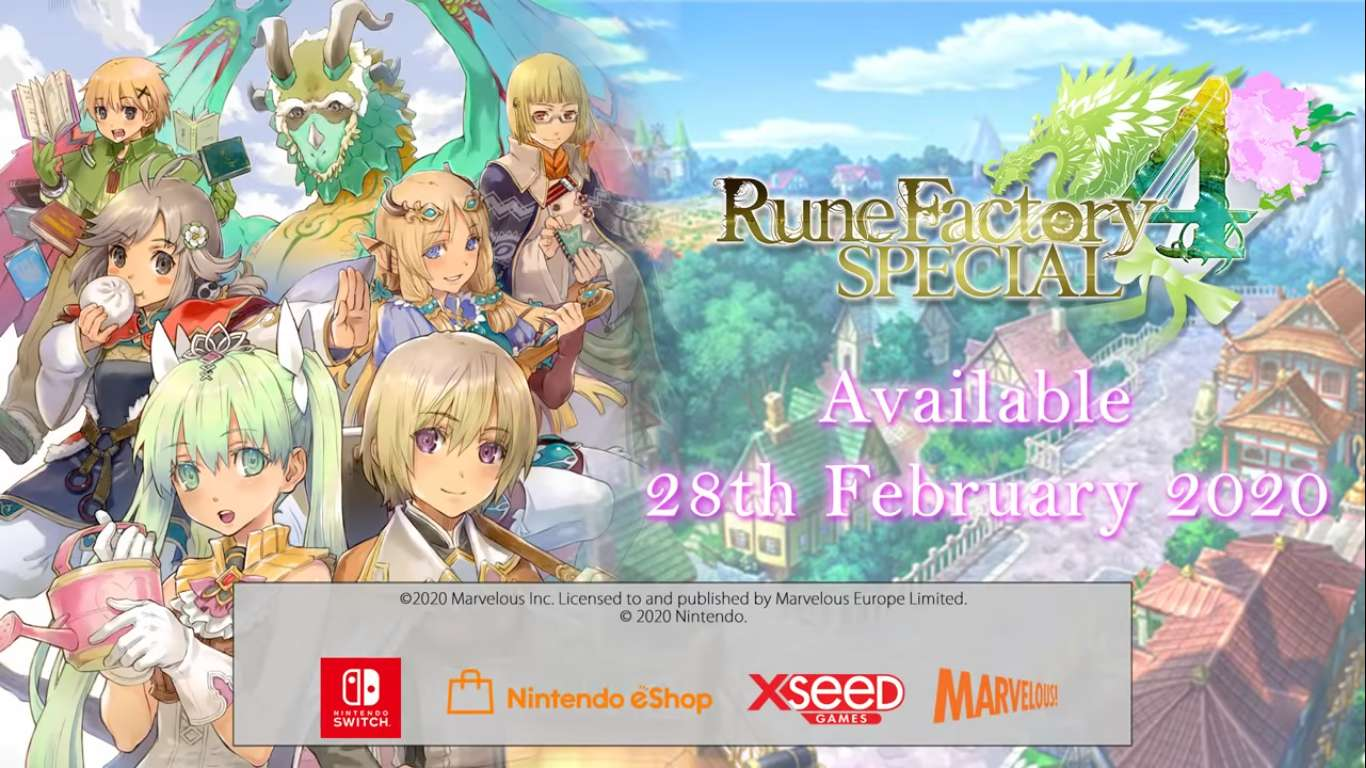 Rune Factory 4 Special Is Releasing On February 25 In North America, The Life-Sim RPG Hybrid Will Be A Nintendo Switch Exclusive
