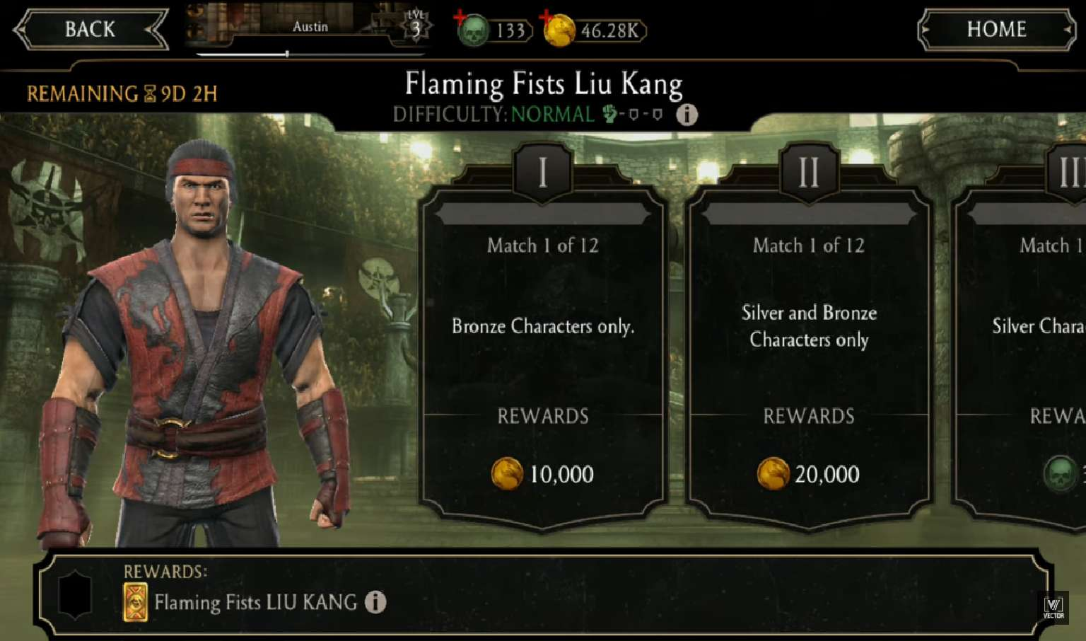 Flaming Fists Lui Kang Burns Players As They Fight Their Way Through His Weekly Towers In Mortal Kombat Mobile