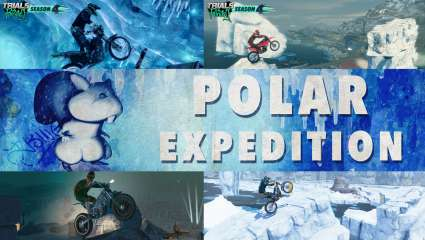 Trials Rising Now Has A Winter Track Pack Released Titled Polar Expedition, Ride Around On Snowy Obstacles That Test Your Skills At Not Slipping Off Ice